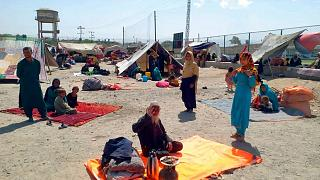 Afghan families have crossed into Pakistan