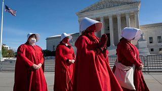 تجمع مخالفان محدودیت حق سقط جنین در برابر کنگره ایالات متحده آمریکا/ نوامبر۲۰۲۰
