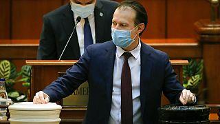 Romanian Prime minister Florin Citu, votes