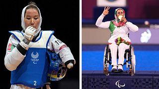 زهرا نعمتی سومین طلای خود را در بازیهای پارالمپیک دریافت کرد و زکیه خدادادی، تکواندوکار زن افغان در توکیو به میدان رفت