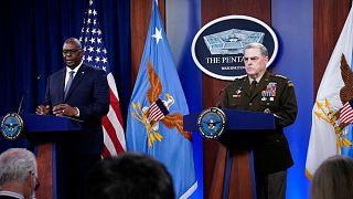 Secretary of Defense Lloyd Austin, and Joint Chiefs of Staff Gen. Mark Milley
