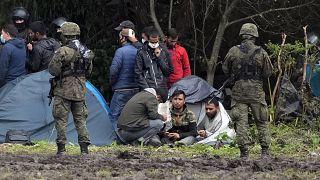 مهاجران گرفتار در مرز لهستان و بلاروس