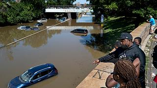 Inundações provocadas pela tempestade no bairro novaiorquino do Bronx