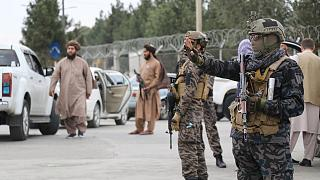Taliban fighters patrol on streets of Afghan capital Kabul, 1 Sept. 2021