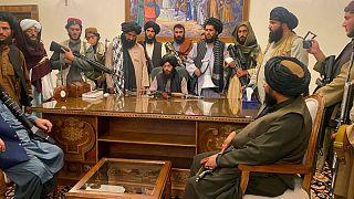 حضور شبهنظامیان طالبان در کاخ ریاست جمهوری افغانستان