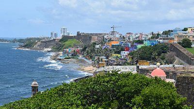 The coastline of Puerto Rico.