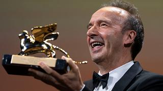 Roberto Benigni receives the Golden Lion for Lifetime Achievements