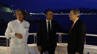 Draghi e Macron a Marsiglia