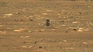 صورة لوكالة ناسا تظهر رحلة مركبة برسيفرنس على سطح المريخ، 19 أبريل 2021