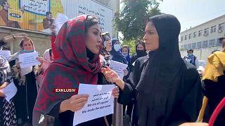 Euronews-Korrespondentin Annelise Borges in Kabul