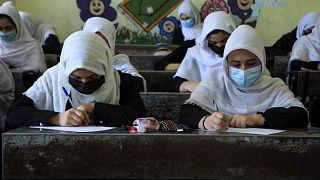 Schoolgirls attend class in Afghanistan / FILE PHOTO