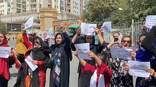 Afghan women protested for their rights in Kabul under Taliban rule