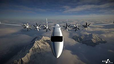 A concept drawing of the 19-seater inter-regional electric aircraft Aura Aero is developing,
