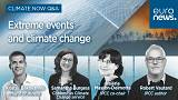 This image shows the guests of Euronews' debate on extreme events and climate change to be held on September 20, 2021.