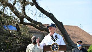 Il presidente Usa, Joe Biden, in Louisiana