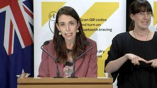 Jacinda Ardern új-zélandi miniszterelnök Wellingtonban 2021. augusztus 17-én