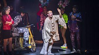 Radnay Csilla és Gyöngyösi Zoltán a Szerelmek városa próbáján a Vígszínházban 2021. szeptember 2-án
