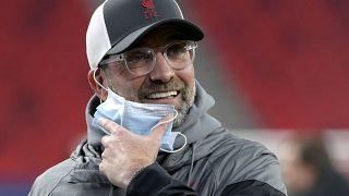 Jürgen Klopp az FC Liverpool-RB Leipzig visszavágó előtt a Puskás Arénában