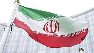 Viyana'daki Uluslararası Atom Enerjisi Ajansı'nda dalgalanan İran bayrağı