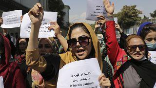 Демонстрация женщин в Кабуле 3 сентября