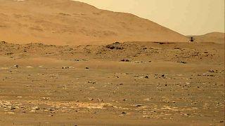 Az Ingenuity helikopter a Marson 2021. április 30-án