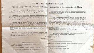 Máltai karanténszabályok 1840 körül