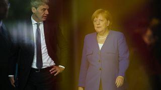 Kanzlerin Merkel und ihr ehemaliger Berater Jan Hecker im Juni 2019