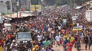 Guineans celebrate removal of Alpha Conde by the military