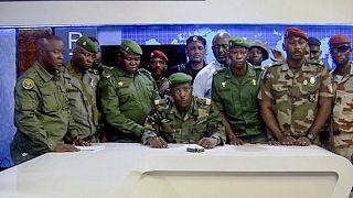 Выступление гвинейских путчистов по государственному телевидению