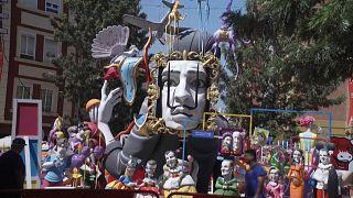 Valencia celebrates Las Fallas festival for first time since pandemic
