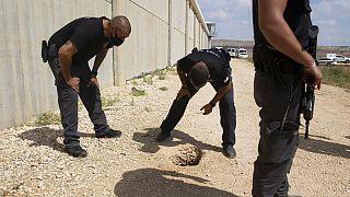 Filistinli mahkumların kaçmak için kullandığı delik