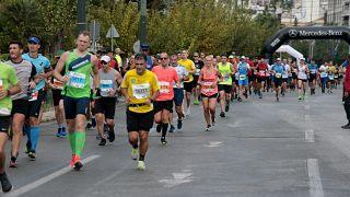 Δρομείς συμμετέχουν στον 37ο Αυθεντικό Μαραθώνιου της Αθήνας, την Κυριακή 10 Νοεμβρίου 2019