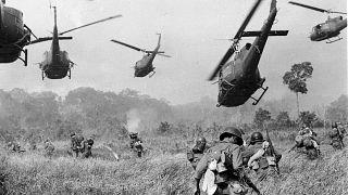 Amerikai helikoptertámadás Vietnamban 1965-ben