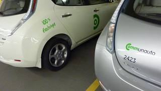السيارات الكهربائية التابعة لشركة كومان أوتو في مونتريال.