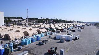 خيام للاجئين الأفغان في قاعدة جوية ألمانية