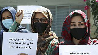 Демонстрации протеста афганских женщин.