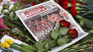 Импровизированный мемориал у посольства Чехии в Москве. Сентябрь 2011 года