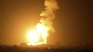 غارة جوية إسرائيلية على خان يونس جنوب قطاع غزة