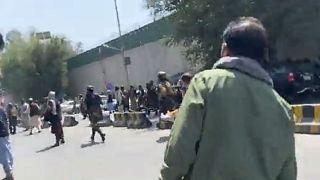 Capture d'une vidéo postée sur son compte Twitter par notre envoyée spéciale en Afghanistan, Anelise Borges, le 7 septembre 2012 à Kaboul