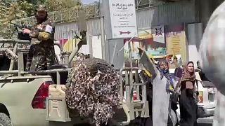 A kabuli tüntetésen készült pillanatfelvétel