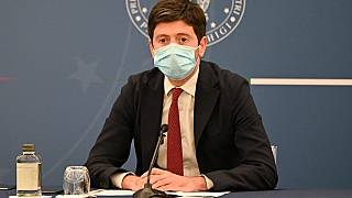 Italy's Minister of Health, Roberto Speranza, attends a press conference at the end of a meeting of the ministers at Palazzo Chigi in Rome on August 5, 2021.
