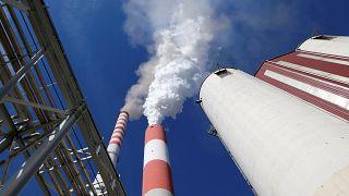 Serbia's main coal-fired power station near Kostolac