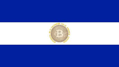 A woman protests against the circulation of Bitcoin in San Salvador on September 7, 2021.