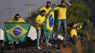 Apoiantes de Bolsonaro em Brasília