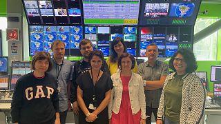 Часть русской команды Euronews