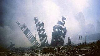 ویرانههای حملات یازده سپتامبر به برجهای دوقلوی نیویورک