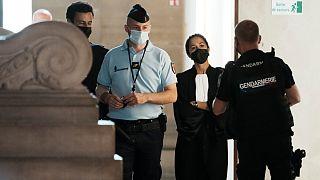 A advogada de Salah Abdeslam, o  principal acusado, à chegada a tribunal