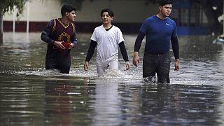 Στιγμιότυπο από τις πλημμύρες στο Μεξικό