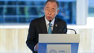 الأمين العام السابق للأمم المتحدة بان كي مون في حوار رفيع المستوى حول التكيف مع المناخ في روتردام، هولندا، 6 سبتمبر، 2021