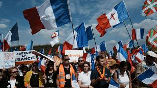 Protests against COVID-19 health passes are held across France every weekend.